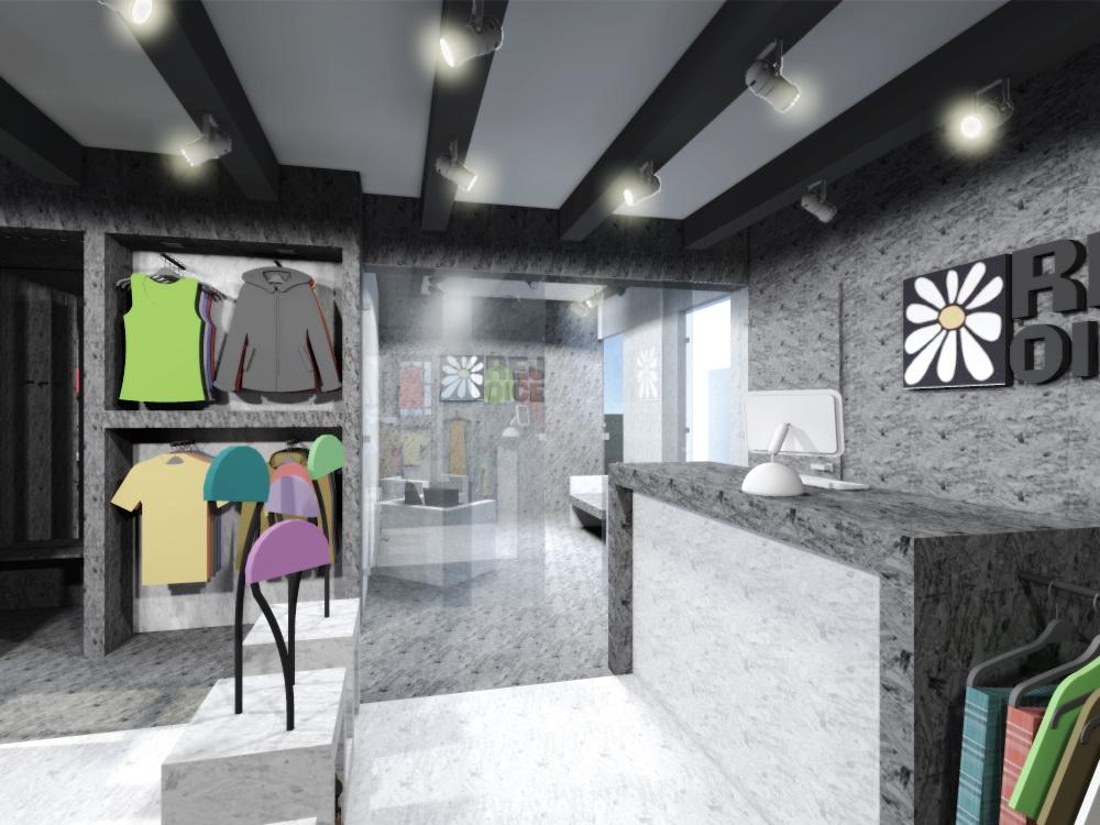 navrh design studie interieru prodejny obchodu s odevy oblecenim rejoice navrhy interieru praha brno ostrava jihlava architekt designer interier krasny vkusny