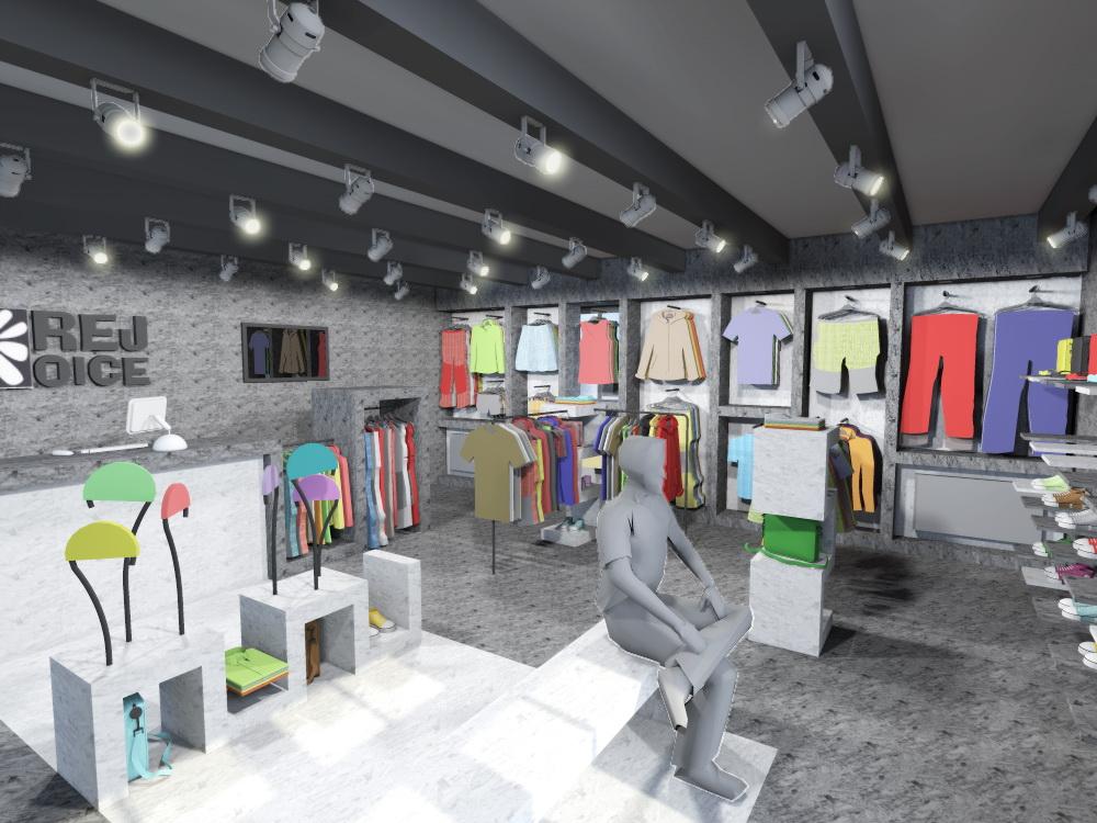 navrh design studie interieru prodejny obchodu s odevy oblecenim rejoice navrhy interieru praha brno ostrava jihlava architekt designer nabytek