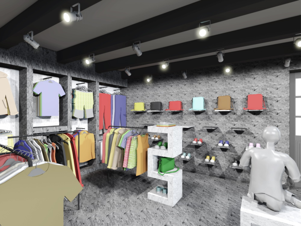 navrh design studie interieru prodejny obchodu s odevy oblecenim rejoice navrhy interieru praha brno ostrava jihlava architekt bytovy interierovy designer