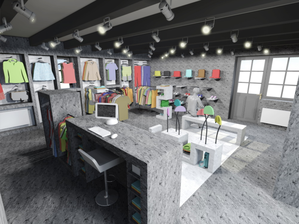 navrh design studie interieru prodejny obchodu s odevy oblecenim rejoice navrhy interieru praha brno ostrava jihlava architekt designer