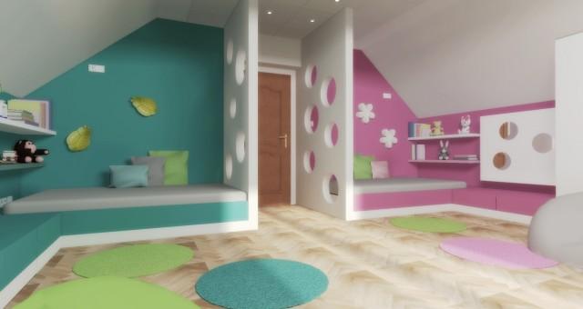 Návrh dětského pokoje pro chlapce a dívku, Znojmo