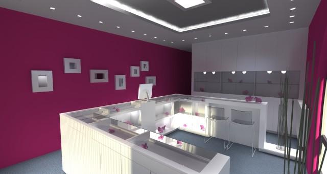 Návrh interiéru zlatnictví, Jihlava