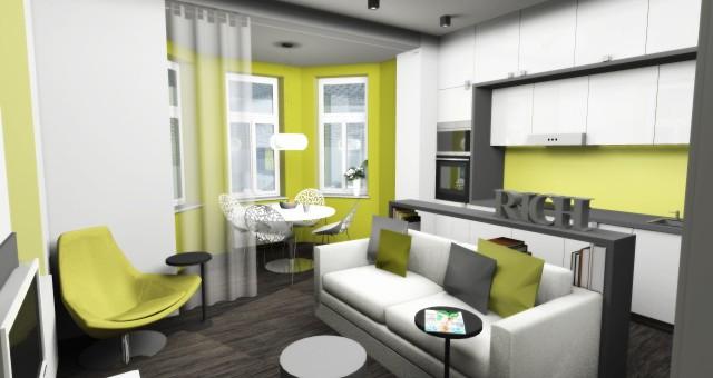 Návrh bytu o 36 m2, Jihlava
