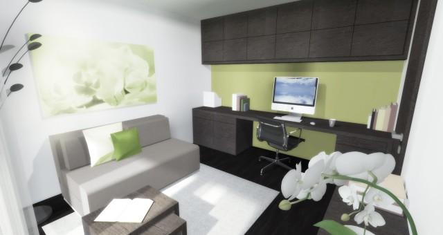 Návrh pokoje pro hosty s koupelnou v RD, Beroun