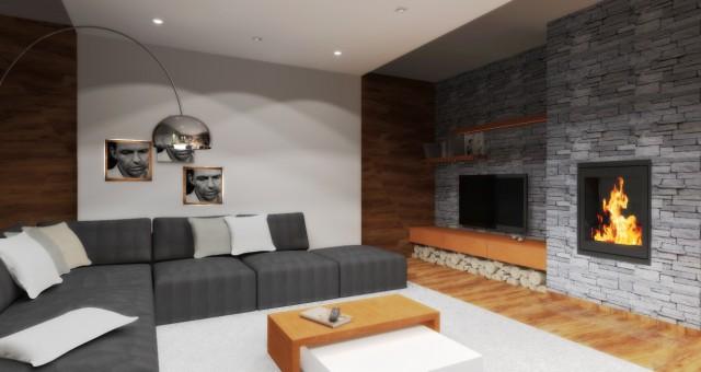 Návrh obytného prostoru v rodinném domě, Vysoké Mýto