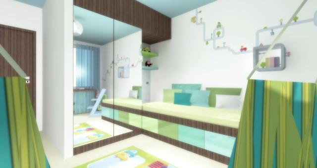 Návrh dětského pokoje pro malého kluka, Jihlava