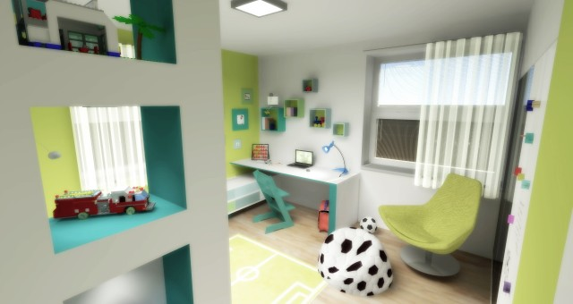 Návrh dětského pokoje pro prvňáčka, Brno