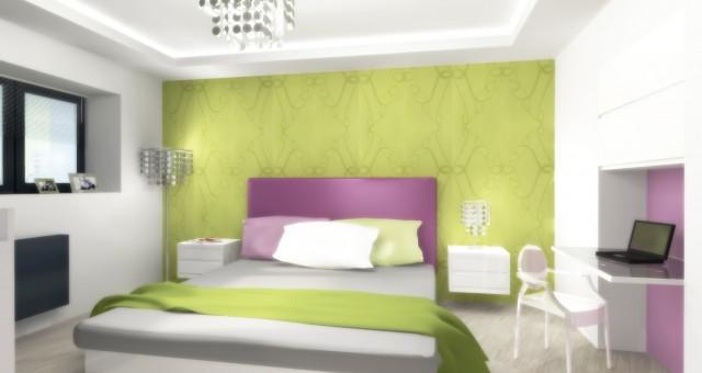 Návrh ložnice plné barev, Jihlava