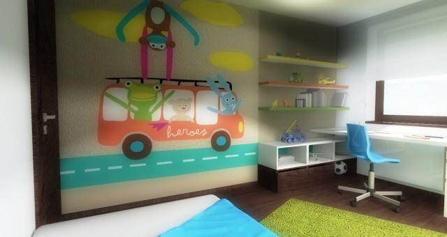 Návrh dětského pokoje pro prvňáčka, Jihlava