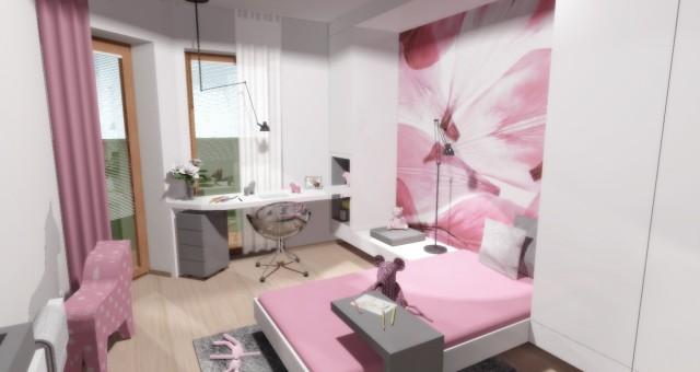 Návrh interiéru holčičího pokoje, Brno