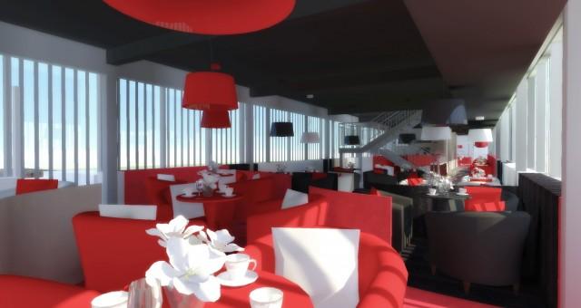 Návrh interiéru restaurace s kavárnou, Jihlava