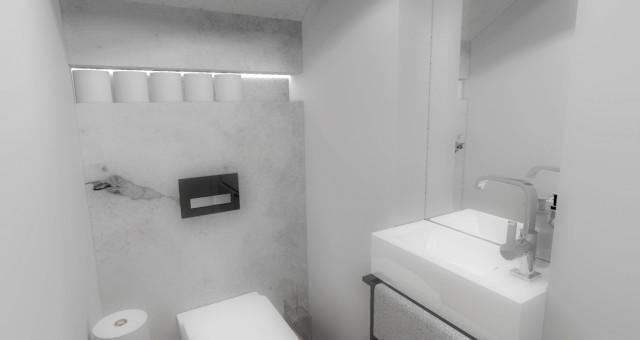 Návrh interiéru toalety, Praha