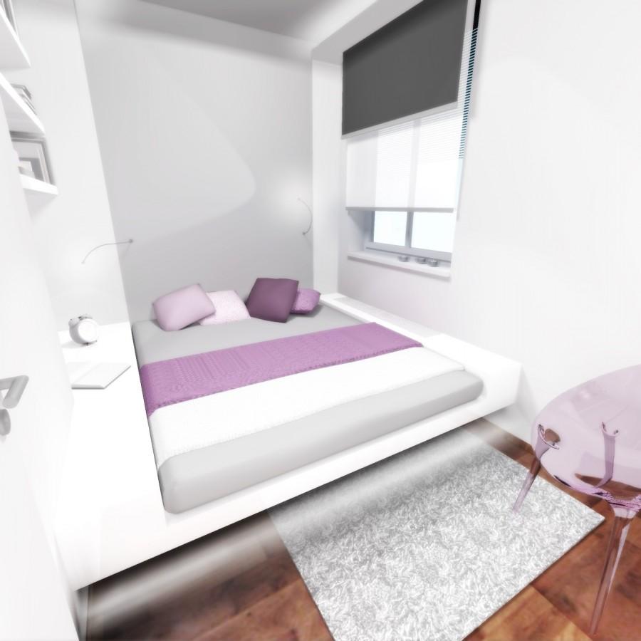 Interiér malé ložnice