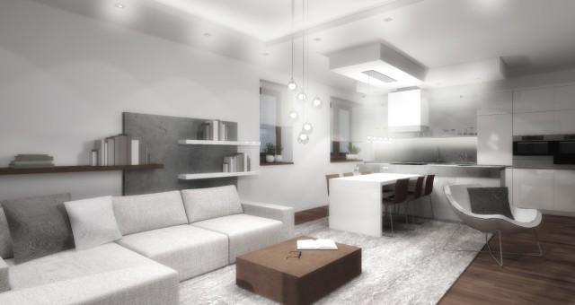 Návrh obývacího pokoje s jídelnou a kuchyní, Valeč
