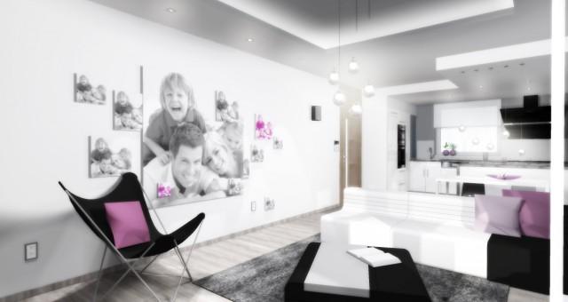 Návrh obývací části s jídelnou, Jihlava