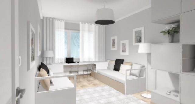 Návrh interiéru místnosti pro vnuky a hosty, Jihlava