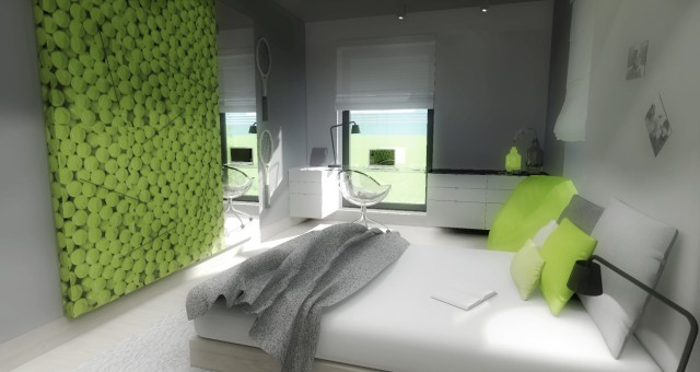 Návrh interiéru studentského pokoje pro tenistku, Jihlava