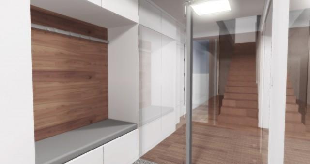 Návrh interiéru zádveří, chodby a schodiště, Ostrava