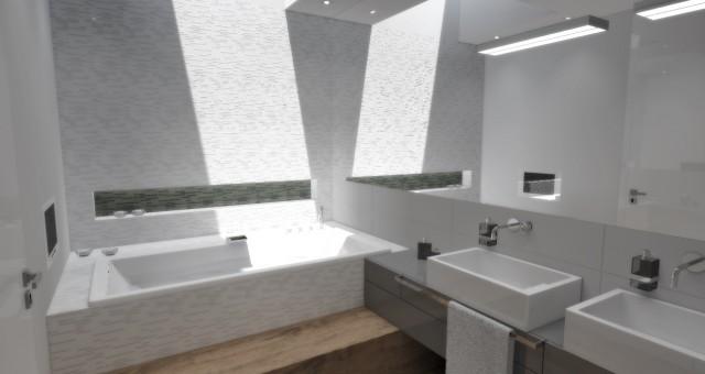 Návrh interiéru koupelny, Praha