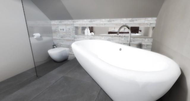 Návrh interiéru koupelny, Brno