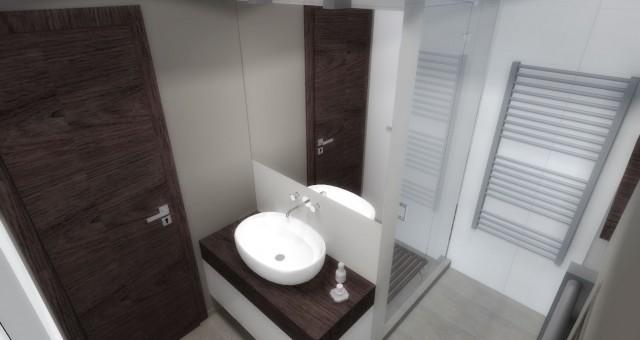 Návrh interiéru koupelny a toalety, Brno