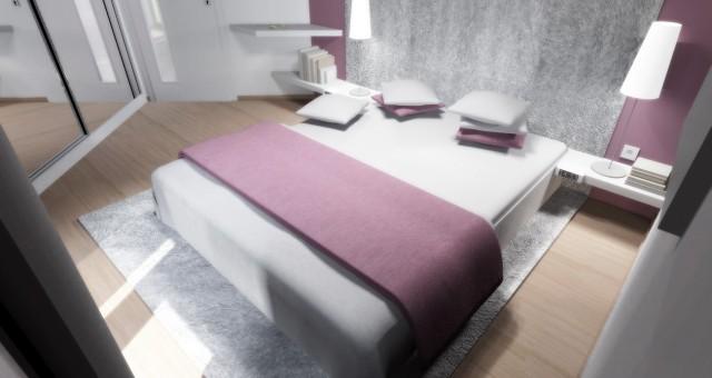 Návrh interiéru ložnice, Dačice