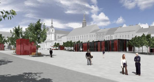 Návrh kavárny na náměstí, Jihlava