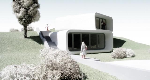 Betonový rodinný dům, Ostrava