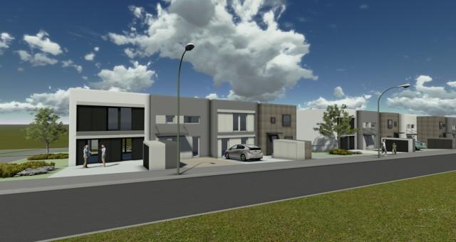 Návrh rodinných řadových domů, Třešť