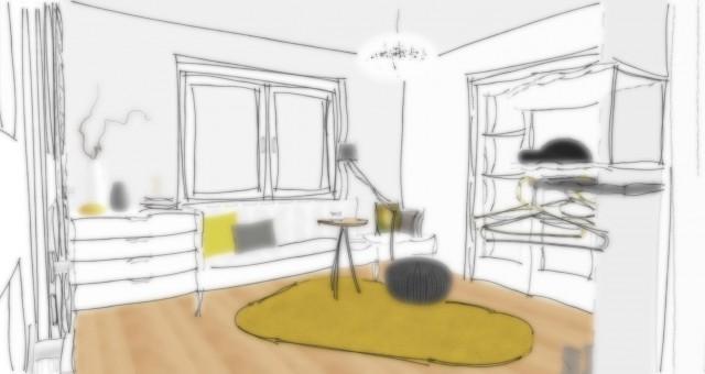 Studie interiéru vstupní haly