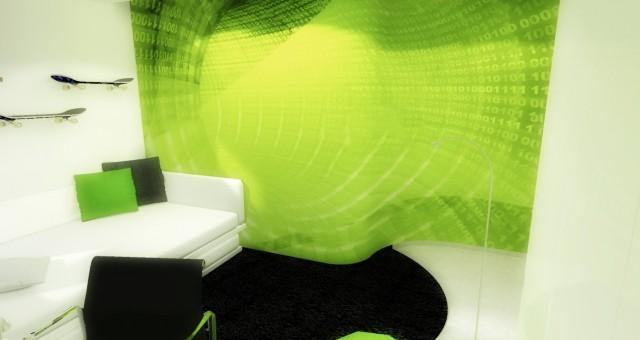 Návrh interiéru chlapeckého pokoje, Jihlava