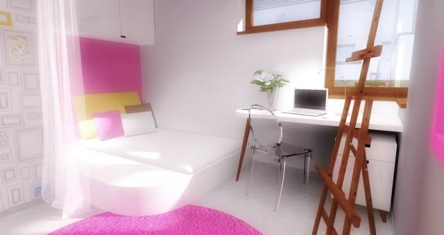 Návrh interiéru dětského pokoje pro malou umělkyni, Jihlava