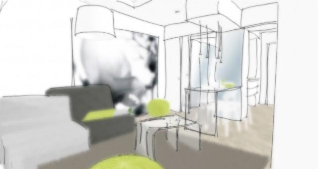 Návrh interiéru malého bytu