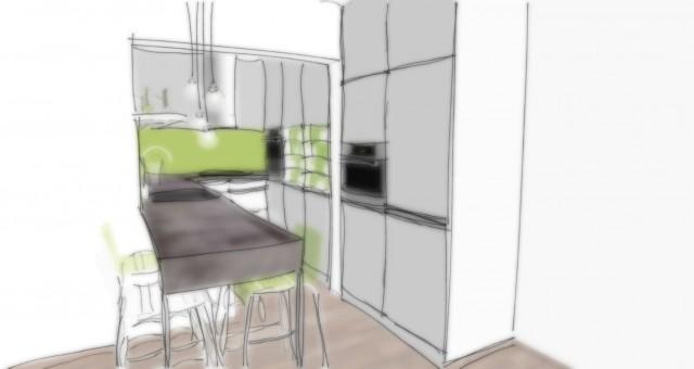 Návrh kuchyňské linky