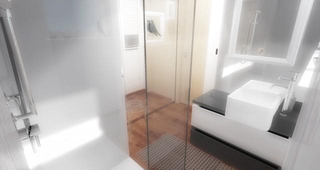 Návrh interiéru malé koupelny, Ostrava