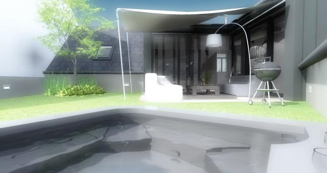 Návrh interiéru podkrovního bytu