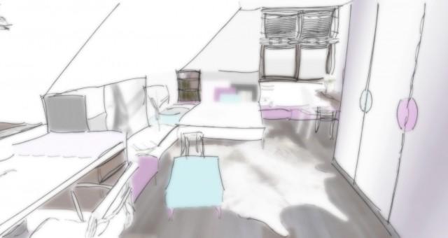 Studie dívčího pokoje