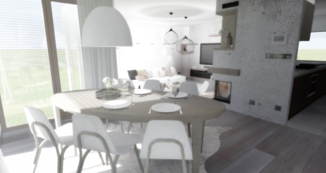 Návrh interiéru obývacího prostoru rodinného domu