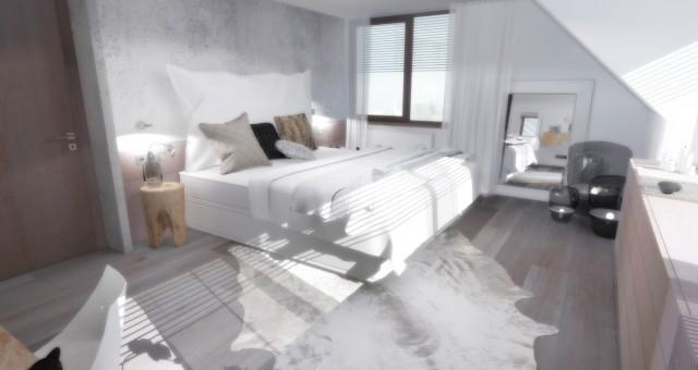 Návrh interiéru ložnice, Trutnov