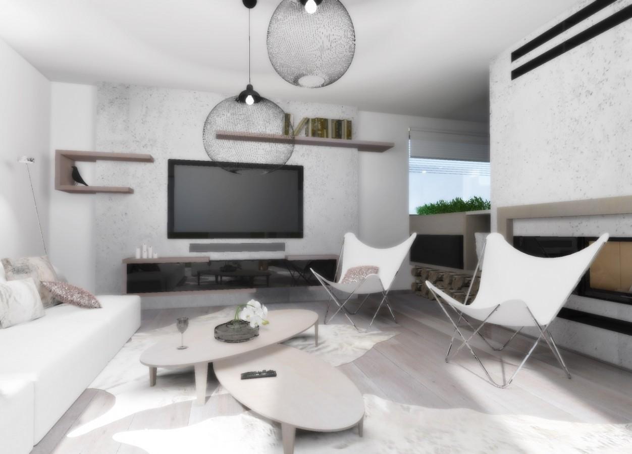 navrh interieru obyvaciho pokoje obyvaku designer architekt studie design interier obyvaci pokoj v rodinnem dome rodinneho domu praha brno jihlava