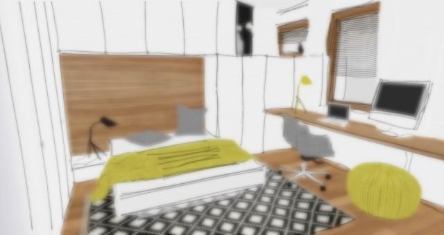 Studie pracovny/ložnice