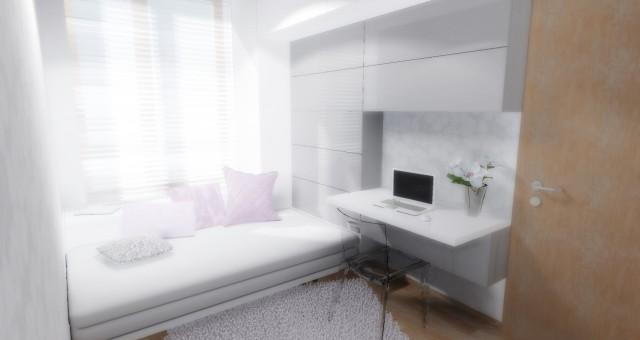Návrh interiéru pracovny/pokoje pro hosty, Praha