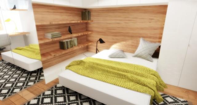 Návrh interiéru pracovny/pokoje pro hosty, Jihlava