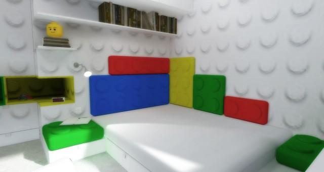 Návrh interiéru dětského pokoje pro kluka, Brusel