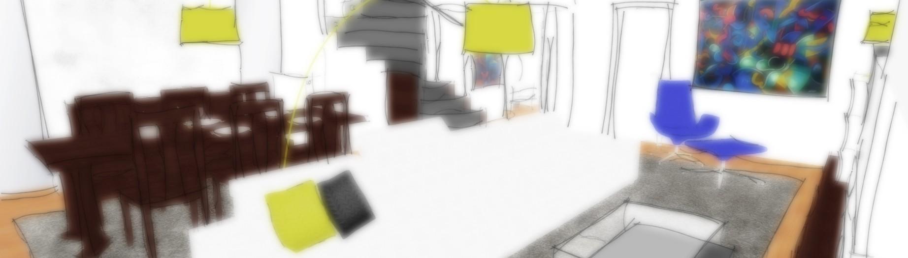 navrh interieru obyvaciho pokoje s jidelnou navrhy interiery interier obyvaci pokoj jidelna jidelny schody schodiste se schodistem architekt designer architekti designeri moderni modernich moderniho home house modern interior architect