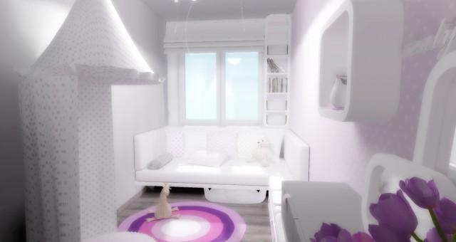 Návrh interiéru dětského pokoje/ložnice, Třinec