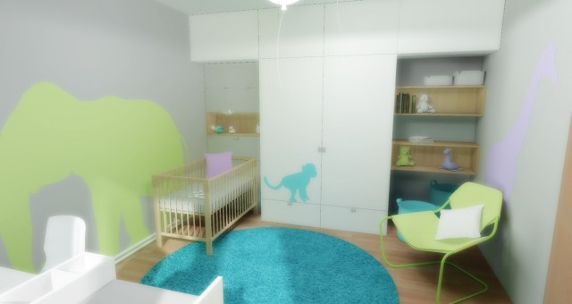 Návrh interiéru rostoucího dětského pokoje, Jihlava