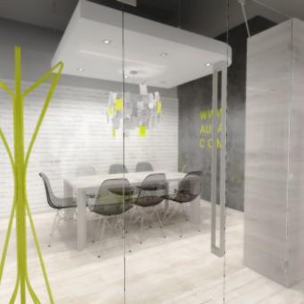 Návrh interiéru kanceláře vydavatelství, Praha