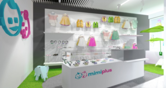 Návrh interiéru prodejny MIMIPLUS