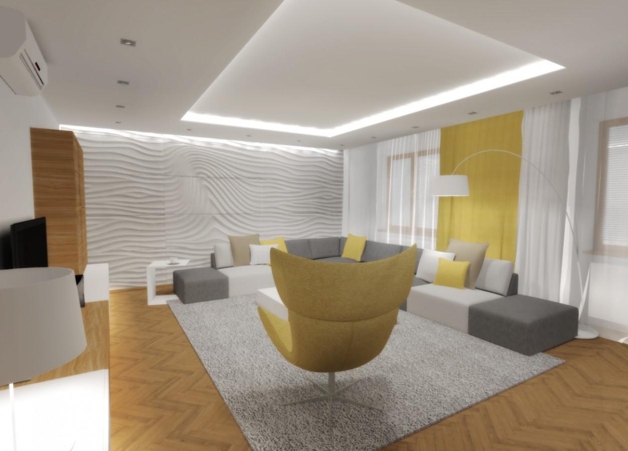 navrh navrhy navrhu navrzeny navrhovat navrhar navrhari navrzich interier interieru interierovy interierem design designer designeri designerka designovy obyvaci pokoj obyvaciho pokoje obytny prostor prostoru obyvak  zluta zluty zlute zlutym seda sede sedy sedym sedeho zluteho bila bile bileho bilem bilemu bilym minimalisticky minimalistickym minimalistickeho minimalismus minimalni moderni moderniho modernim modernimu styl stylu stylovy podhled podhledy podhledem intimni atmosfera prijemny prijemne prijemnem